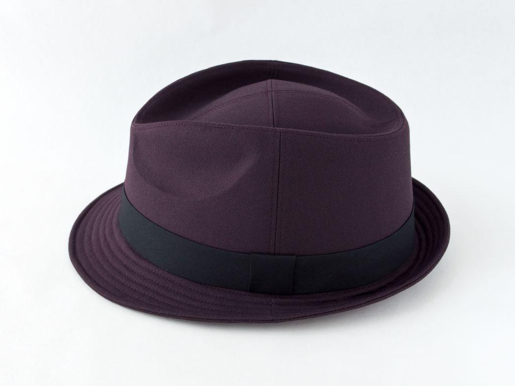 ダークパープル中折れ帽子4