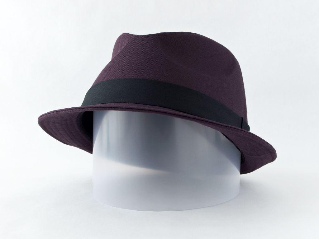 ダークパープル中折れ帽子5