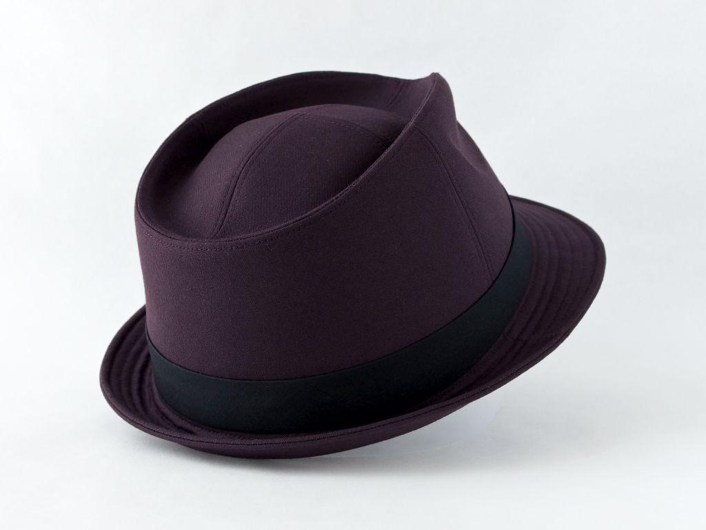 ダークパープル中折れ帽子6