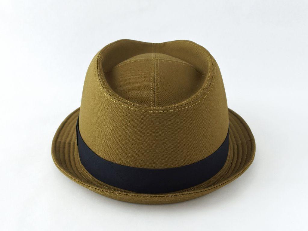 ライトオリーブ中折れ帽子3