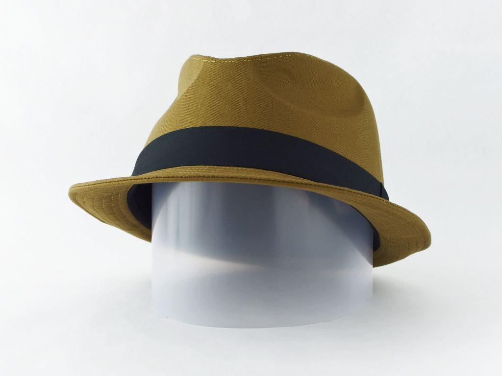 ライトオリーブ中折れ帽子5