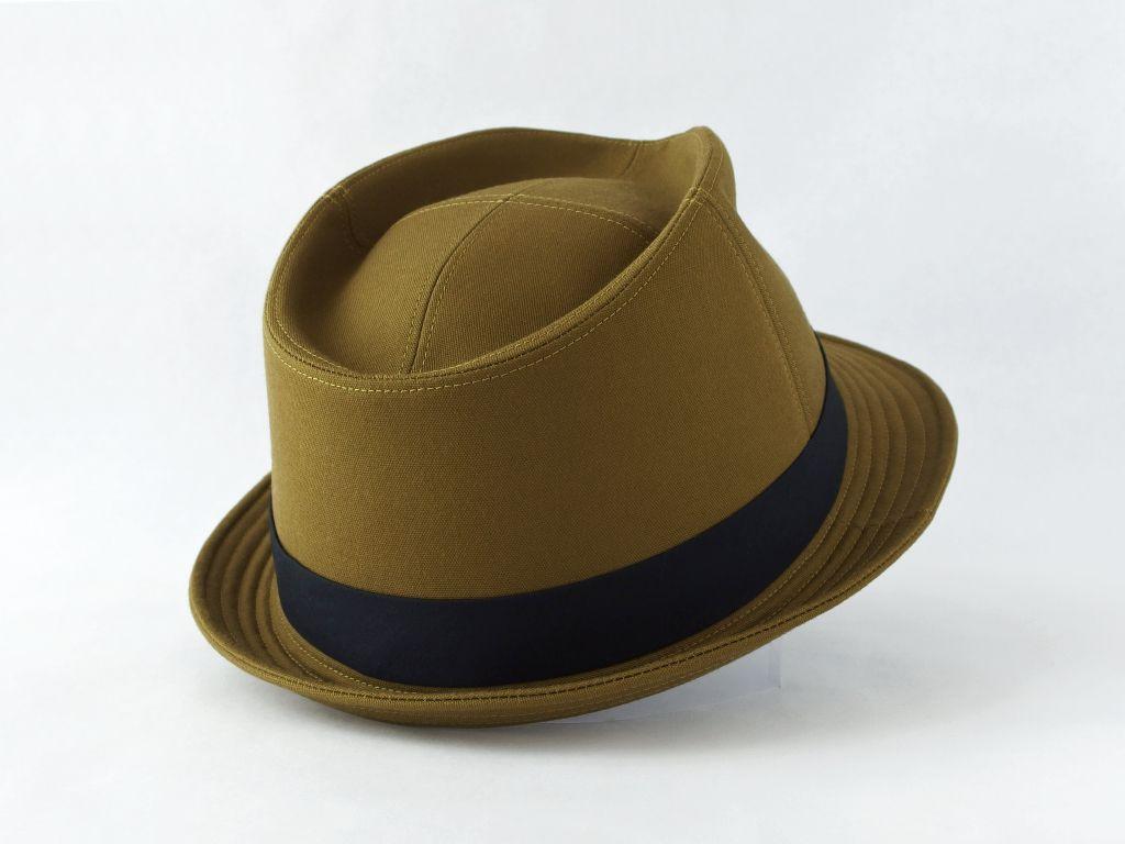 ライトオリーブ中折れ帽子6