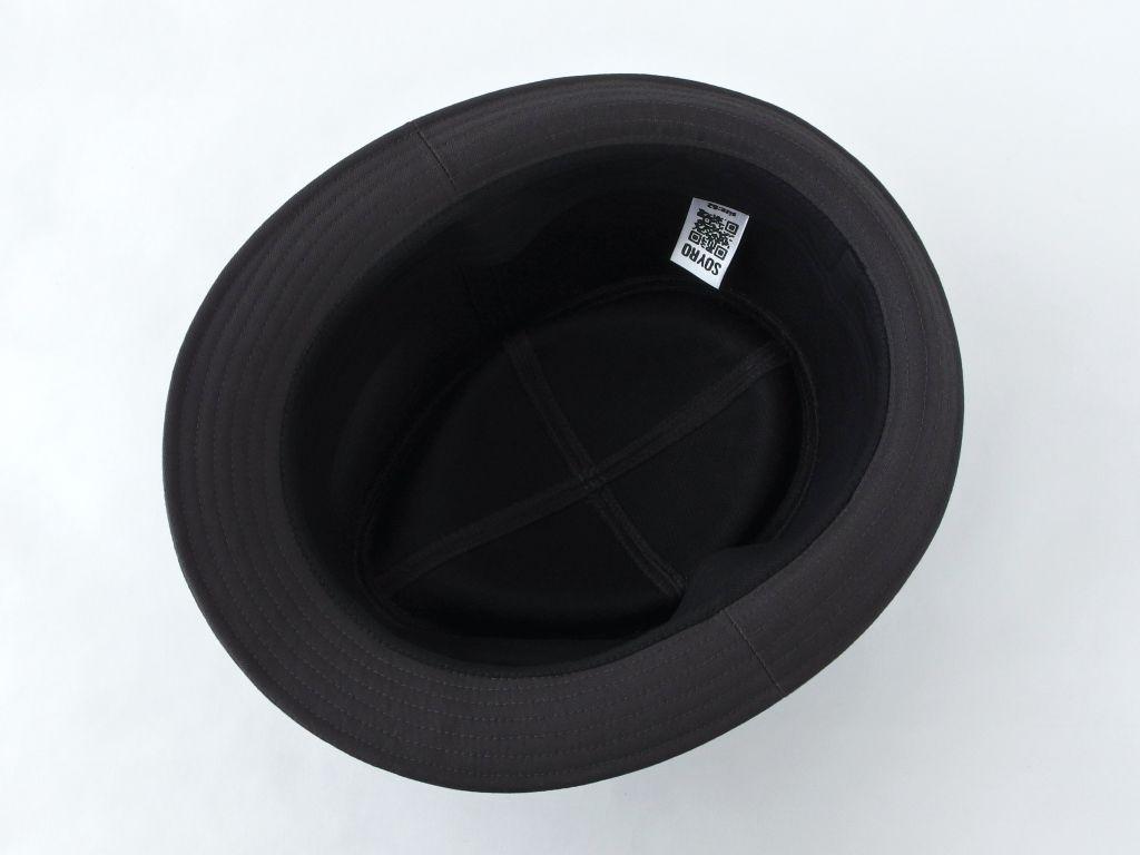 ダークグレー中折れ帽子7