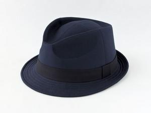 ネイビー中折れ帽子