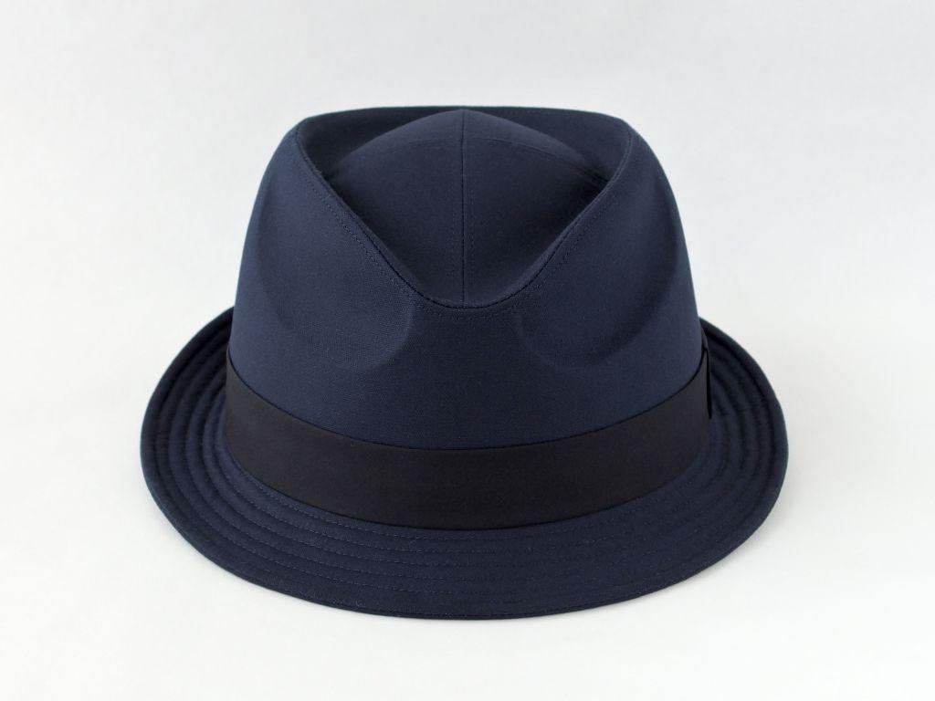 ネイビー中折れ帽子2