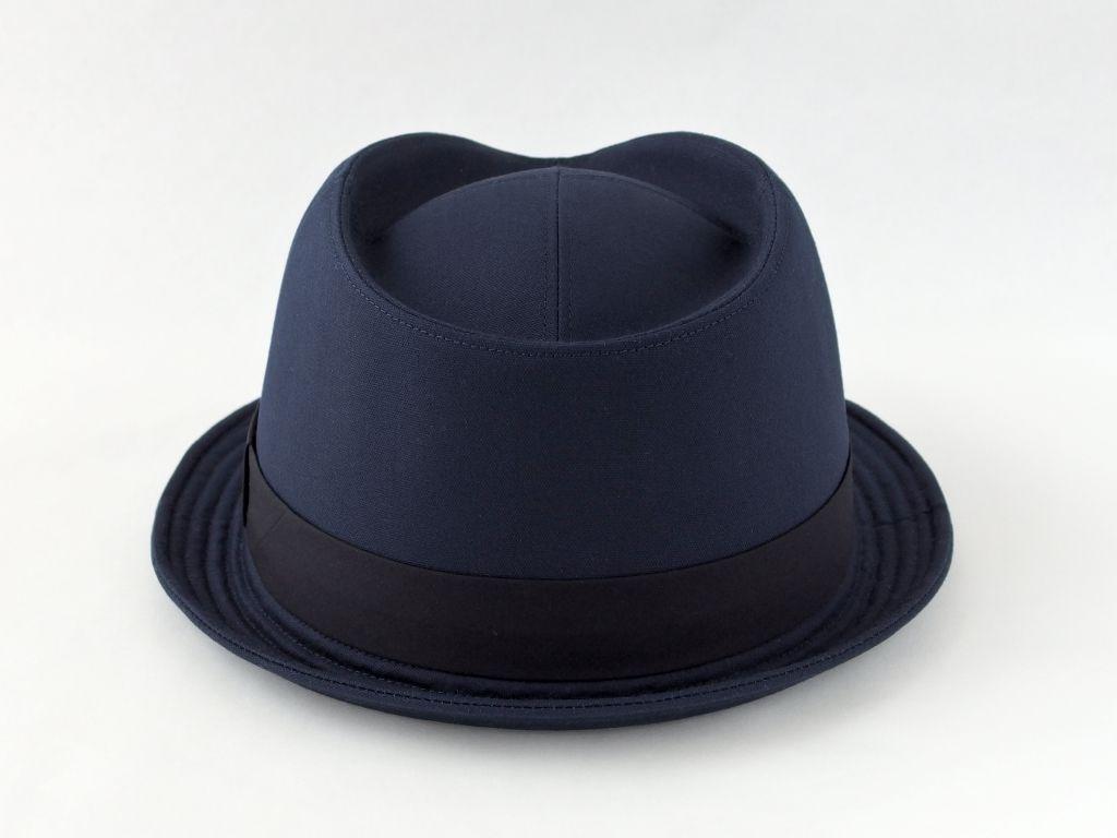 ネイビー中折れ帽子3