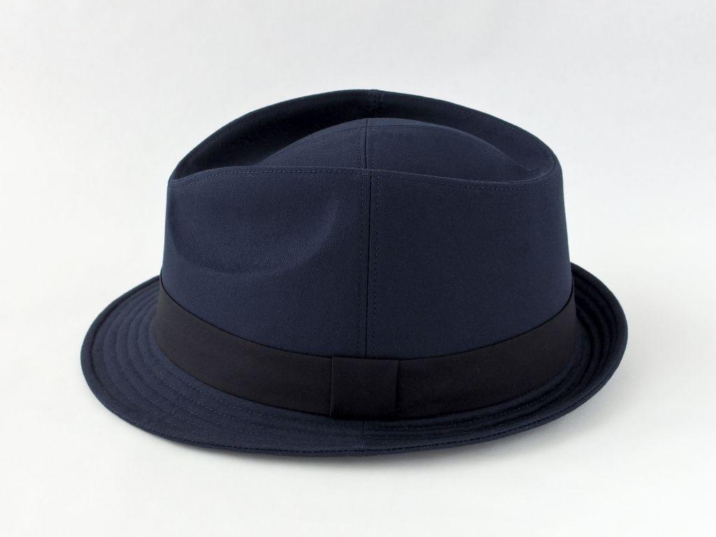 ネイビー中折れ帽子4