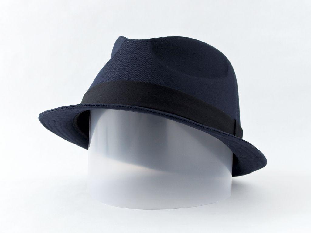 ネイビー中折れ帽子5