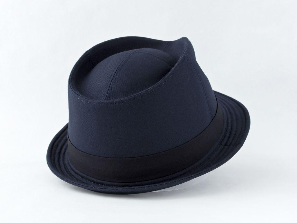 ネイビー中折れ帽子6