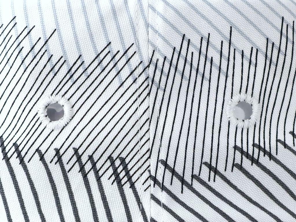 手書き風斜線ロングブリムハット8